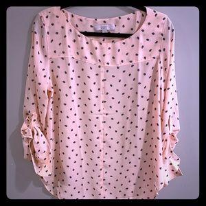 Loft silk pink blouse
